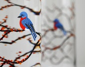 Autumn Bluebird Glassware - Set of 2 Everyday Drinking Glasses, Bluebird Glasses, Bluebird Glass, Bluebird Glassware, Fall wedding Glasses