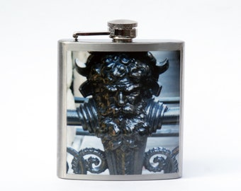 HIP FLASK - Flask - Dakota Man Flask - 6 oz Flask