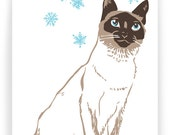 Siamese in Snow - Boxed Set of 8 Cards