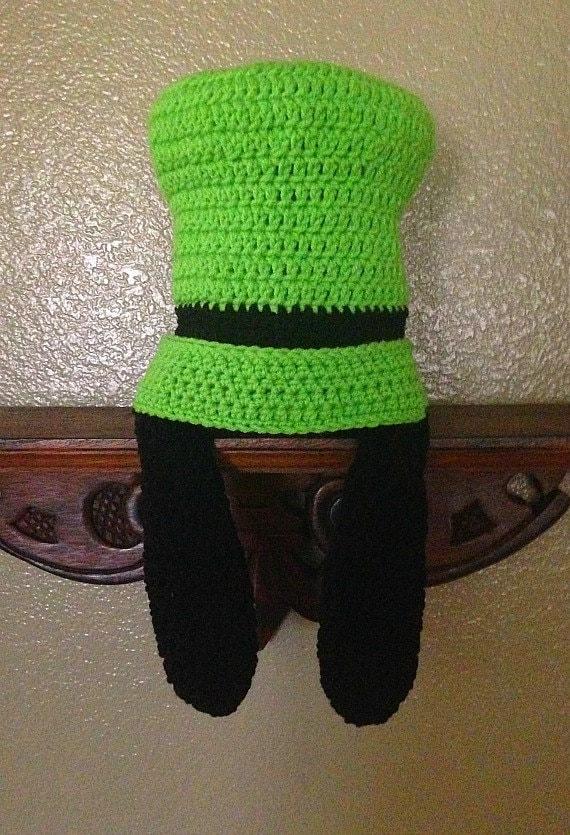 Disney inspired custom crochet Goofy hat with ears photo prop