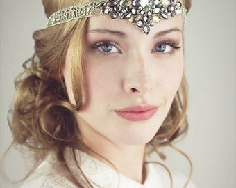 Diamonds And Dust 1920s Flapper Beaded Headband