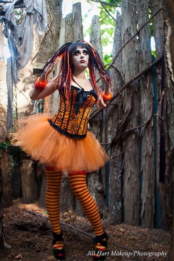 Orange Sorbet adult tutu skirt extra poofy petticoat dance costume halloween running -- You Choose Size --Sisters of the Moon