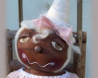 Ginger, A Primitive, Folk Art, Shabby, Gingerbread, Doll, Pattern