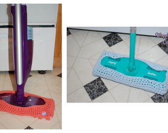 Crocheted Swiffer (Wet Jet) reusable pad (Set of Two)  Green Living - Dusting Pad -Household Cleaner -Green Clean