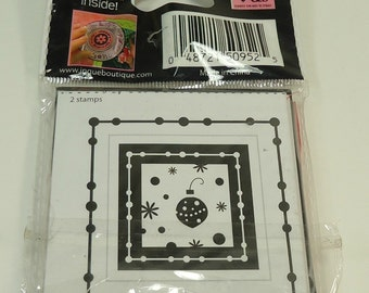 Christmas Ornament Christmas Lil' Stamps Unmounted Stamp Set From See D's Inque Boutique