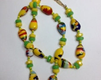 Vintage German Art Glass Necklace