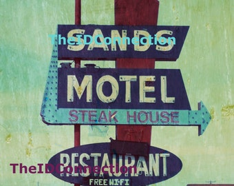 1950's Sands Motel, Steak House Digital Photograph Download, Wild West, Western Art Photograph