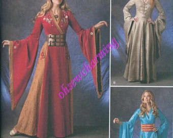 Game of Thrones Inspired Dress Sewing Pattern Simplicity 1487 UNCUT Sizes 6-8-10-12 Medieval Gown Sansa Cersei