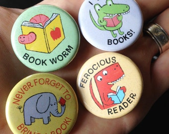 Lil' Readers Buttons - SET THREE