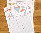 2014 Accomplishment Calendar - geometric shapes
