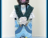 Camille Handmade Mixed Media Victorian Collage Art Doll Decoration