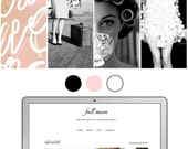 Premade Blogger Template Full Moon Photography
