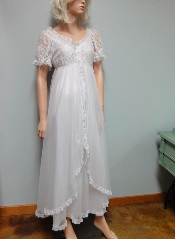 Vintage Bridal Peignoir Set By Tosca Of California Double
