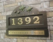 Sea Turtle Family House Numbers Vacation Home Beach Cottage