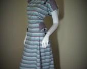 Vintage 50's NOVELTY POCKETS Toni Todd Rockabilly Dress L/XL