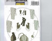 Craft Sewing Pattern Butterick B5733 Making History Renaissance Medieval Accessories Ax Loops Bracers Greaves Gloves Pouch UNCUT  99