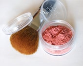 Peachy Pinkist Blush 30g -for light to medium skin tones- All-Natural Gentle Skin Improving Vegan Mineral Makeup