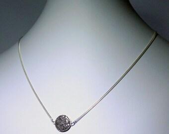 Pavé Diamond Pendant Necklace Genuine Diamond Necklace Sterling Silver Necklace April Birthstone Gemstone Necklace PD-N-104-s