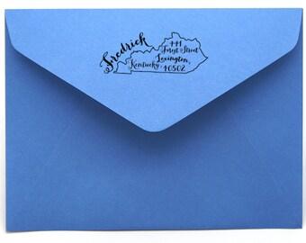 Kentucky Personalized Return Address State Stamp