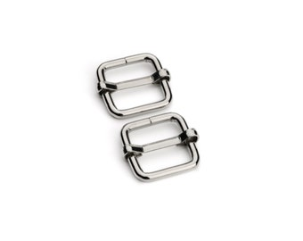 "50pcs - 1/2"" Adjustable Slide Buckle - Nickel - Free Shipping (SLIDE BUCKLE SBK-104)"