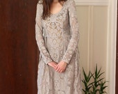 sale --was 275-- IN STOCK AsA Claribel Vintage Warm Grey Lace Dress S/M