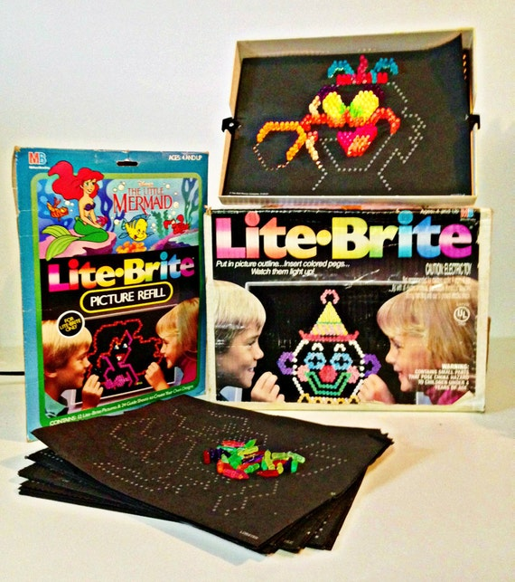 vintage Lite Brite toy - Lite Bright pegs - Lite Bright patterns ...