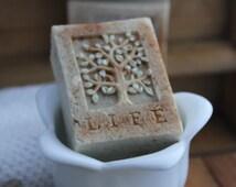 Tree of Life oatmeal soap - warm cinnamon oatmeal - Organic and Fair Trade Ingredients