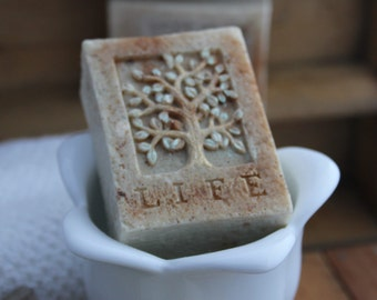 Tree of Life oatmeal soap - warm cinnamon oatmeal - Organic and Fair Trade Ingredients