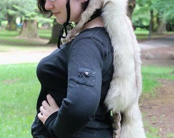 Fox headdress by Lupa - full hide blue Arctic fox headdress totem dance costume for shamanic ritual and dance