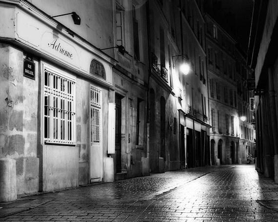 Paris Noir #13, Paris Photography, Black and White Wall Art, Paris Decor, Paris Print