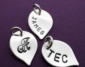 Personalized Sterling Silver Leaf Charm - SMALL Leaf Charm - EWD Extras and Add Ons