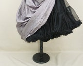 Silvery Purple Patterned Full Length Bustle Skirt-One Size Fits All