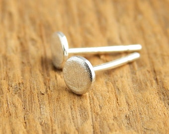 Tiny silver studs, 4 mm sterling silver post earrings, stud earrings, tiny circle studs.