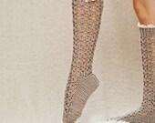 Instant download - Crochet PATTERN for socks (pdf file) - Lux Buttoned Socks