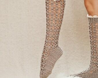 Crochet PATTERN for socks - Lux Buttoned Socks