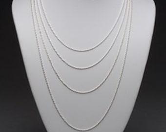 "18"" Sterling Silver Box Chain"