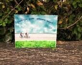 Watercolor Landscape Painting, Landscape Art, Watercolor Paintings Original, NYC Art, Governors Island, Landscape, National Park, 11x14