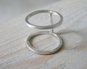 Two In One Sterling Silver Ring. Modern Ring. Handmade Sterling Silver Ring. Minimalist Ring