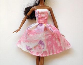 Handmade Barbie Clothes Pastel Dress Designs by P D Reneau (Q417)