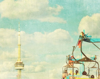 BUY 2 GET 1 FREE Toronto Skyline, Toronto Art, Cn Tower, Carnival Wall Art, Fine Art Print, Home Decor, Wall Decor, Toronto Photography