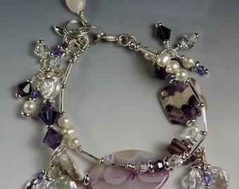 BirdDesigns Double Strand - Gemstone - Bracelet - Adjustable - ooak - J502