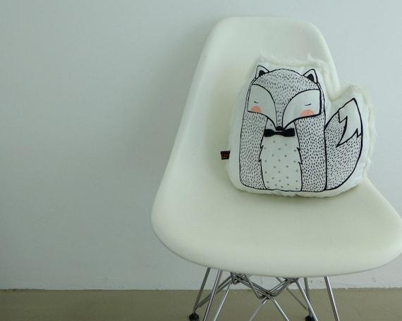 Winter Mr Fox Cushion