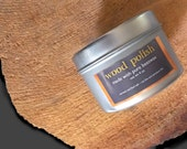 pure beeswax wood polish / natural wood finish (nontoxic shop-blended / petroleum-free)