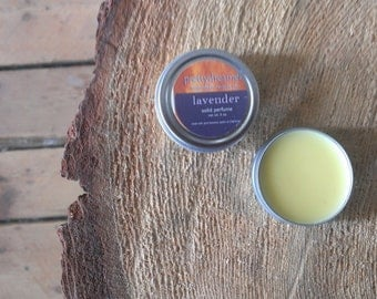 lavender : solid perfume / fragrance /