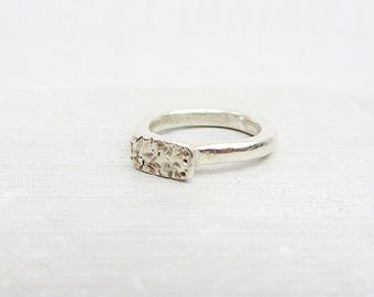 Statement sterling silver ring, Handcrafted statement sterling silver ring