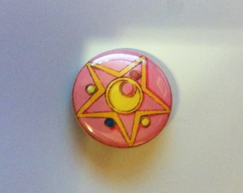 Sailor Moon 1 inch button - Transformation Brooch