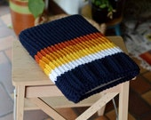 Laptop sleeve, macbook sleeve, apple bag, protective case, sunny blue, autumn colours, knitted 13 inch