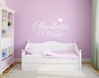 Girl Wall Decals Etsy - Wall stickers for girls