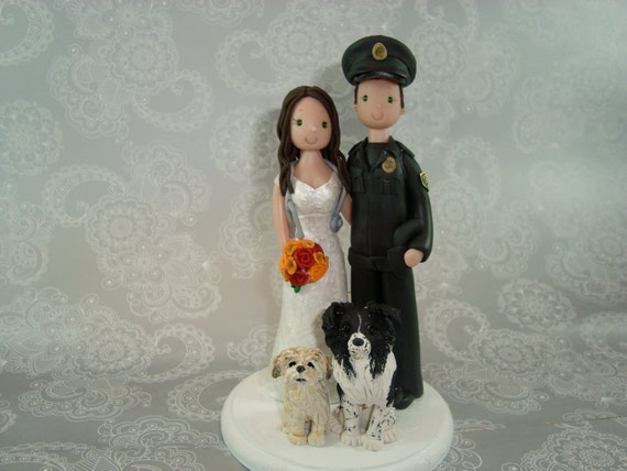 police officer and nurse wedding cake topper customized officer amp wedding cake topper by 18671