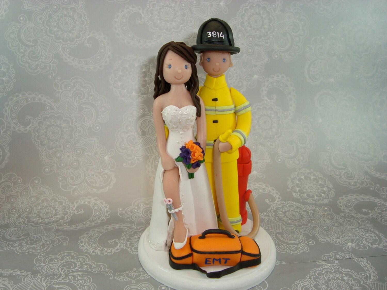 fireman precious moments wedding cake topper wedding cake topper
